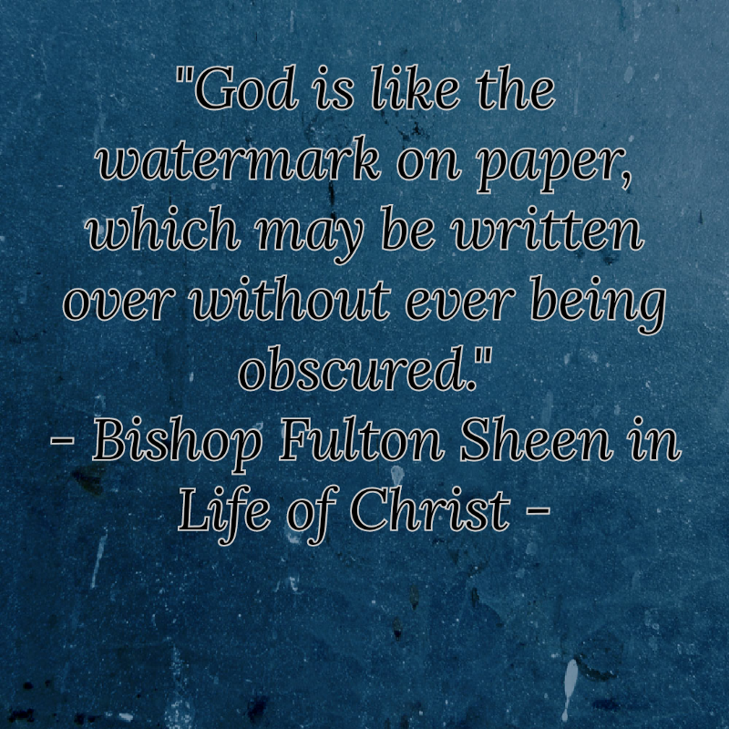Fulton Sheen Quotes On Marriage: God Is Always There